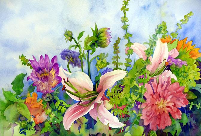Market Bouquet 14x22