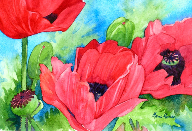 Sheilas Poppies II 6x10