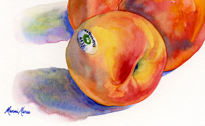 peaches 5x7