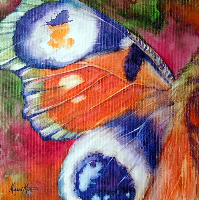 Butterfly1 ,watercolor on canvas