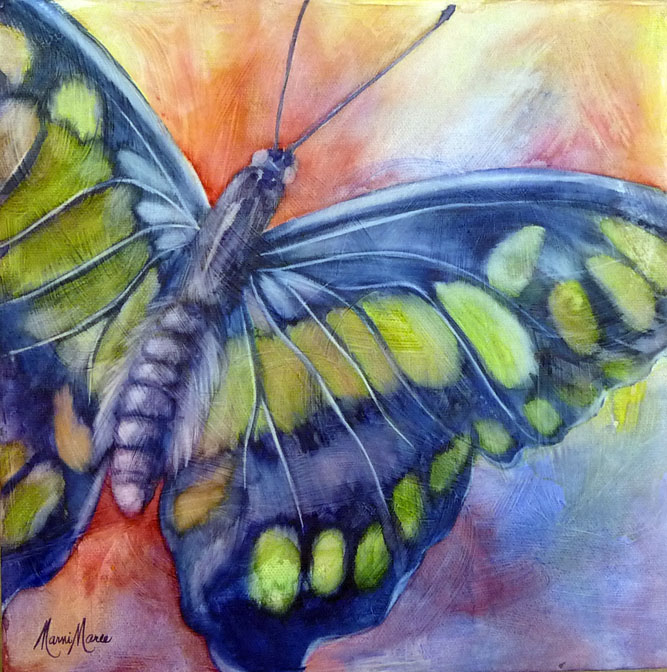 Butterfly 2 , watercolor on canvas