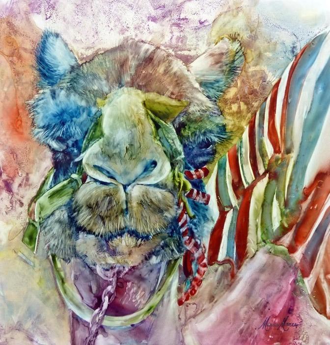 Humphry II watercolor on yupo