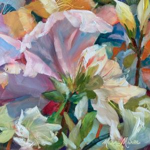 Azaleas, oil by Marni Maree